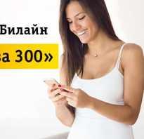 Билайн тариф 300