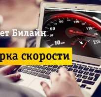 Проверить скорость интернета билайн дома
