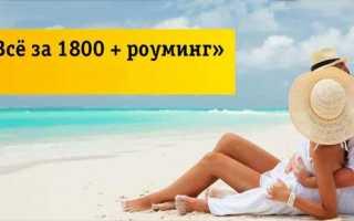 Билайн тариф 1800