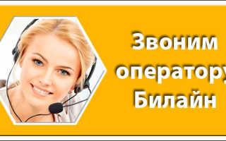 Билайн бесплатный звонок