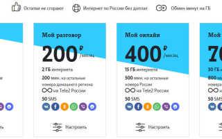 Сотовый оператор теле2 тарифы