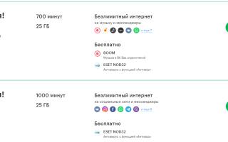 Тарифы мегафон иркутская обл
