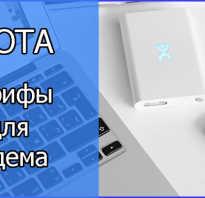 Yota тарифы для модема